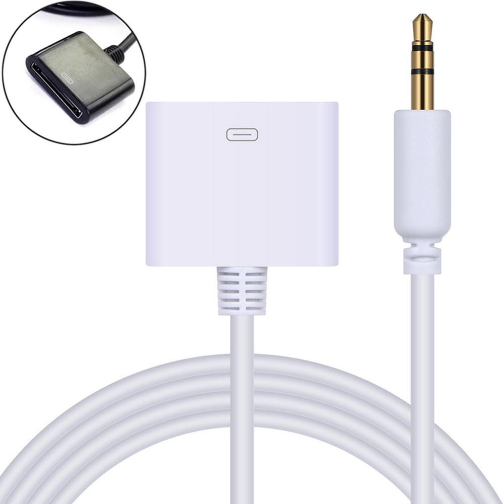 Hot AUX Cable 3.5mm Male Plug To 30-Pin Female Dock Adapter Cable For IPod IPhone