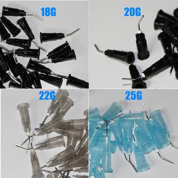 100 sztuk partia wygięte igły porady porady do dostarczania cieczy porady dotyczące prania materiały stomatologiczne 4 modele mogą być wybrane tanie i dobre opinie 18G 20G 22G 25G 100 pcs Wybielanie zębów Umiarkowane
