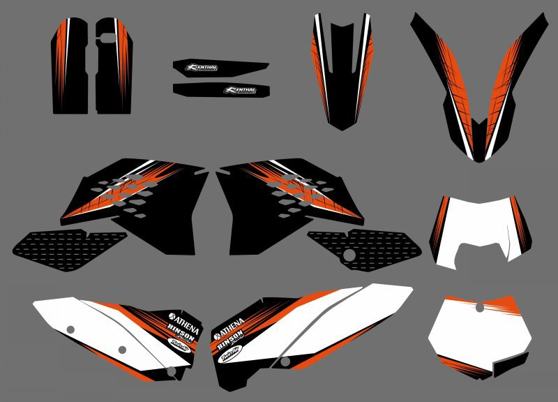 Motorcycle Graphic Decals Stickers For KTM SX SXF 125 200 250 300 350 450 525 2007-2010 EXC XC 2008-2011 все цены