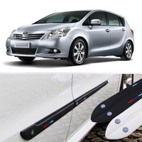 Car styling 4pcs High Quality Brand New Side Doors Rubber Bumper Protector Guard Scratch Sticker Trim For Toyota Vehicle