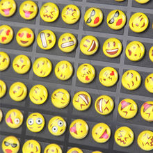 New Design 36 Styles Emoji Face Stud Earring For Women Girls Round Funny Happy Earrings Trendy Ear Jewelry Gifts A222(China)
