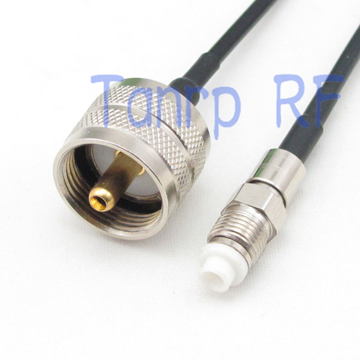 5M Pigtail coaxial jumper cable RG174 extension cord  UHF PL-259 male plug to FME female jack RF connector adapter dvb t rf coaxial to mcx tv antenna connector black 22cm cable
