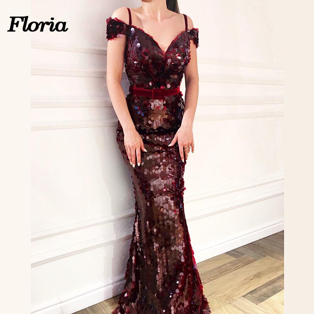 Новый бордовый арабский блеск Русалка Вечерние платья vestido de fiesta Aibye Длинные платья 2018 г. в африканском стиле Вечерние платья гала jurken