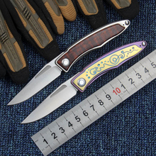 M390 Blade Tactical Folding Knife Titanium Wood Handle Hunting Survival Outdoor Camping Combat Knives EDC Multi Rescue Tools