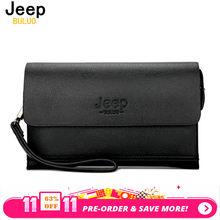 789db68f7cc0 JEEP BULUO Элитный бренд мужской кожаный кошелек Для мужчин Сцепление  кошельки Удобные сумки Бизнес Carteras Mujer