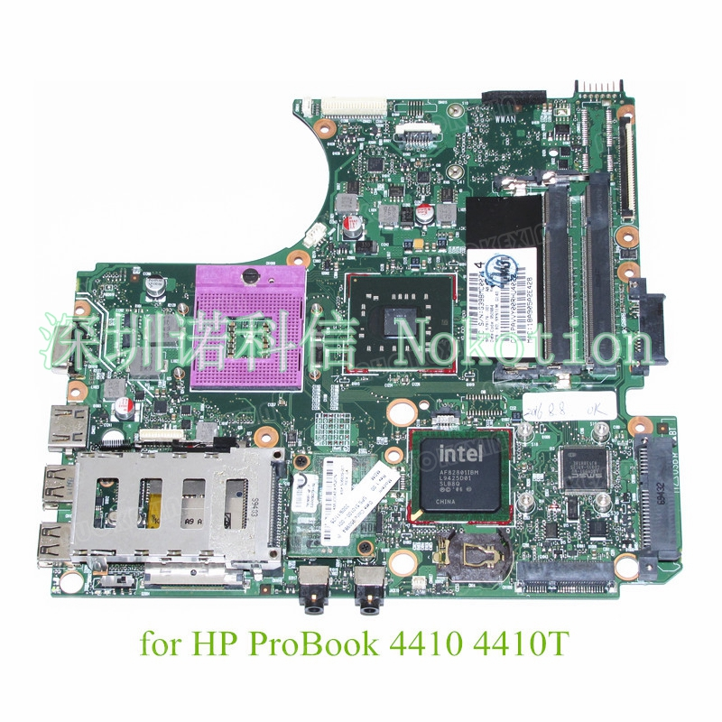 NOKOTION SPS 578179-001 For HP Probook 4410 4410T 4411S motherboard GL40 DDR2 System board nokotion sps v000198120 for toshiba satellite a500 a505 motherboard intel gm45 ddr2 6050a2323101 mb a01
