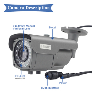 Image 5 - Smar Onvif Security HD IP Camera 720P 960P 1080P  Outdoor Waterproof CCTV Bullet Camera 4X Zoom 2.8 12mm Manual Varifocal lens