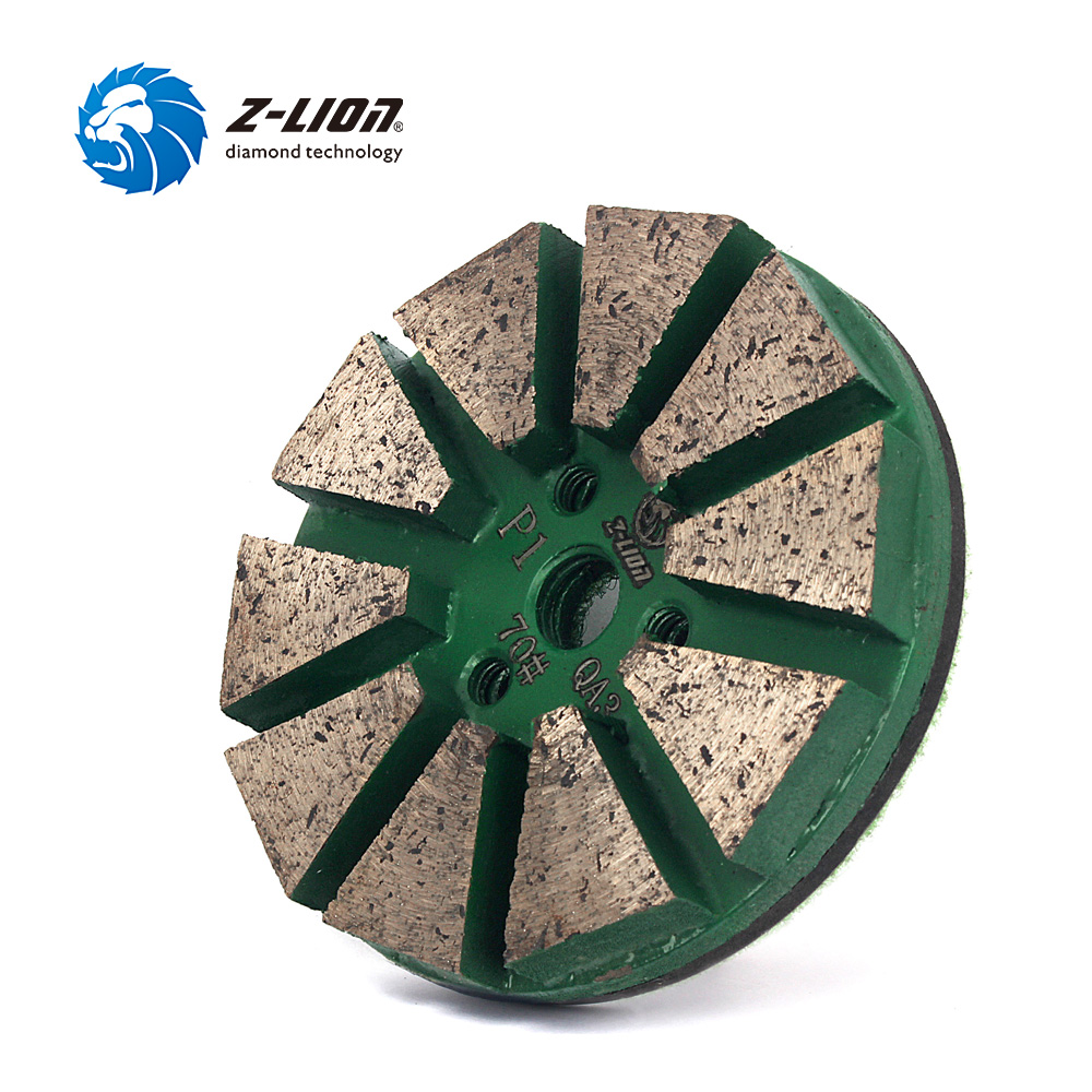 Z-LION 3 Inch Grit 70# Concrete Circles Grinding Wheel Wet Use Metal Bond Diamond Floor Polishing Pad For Concrete Stone Tools 2 inch 3 inch 4 inch soft polishing pad buffing wheel for wood plastic ceramic metal grinding and polishing