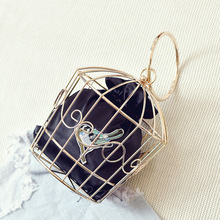 Bag 2016 new metal birdcage fashion handbag Mini funny personality