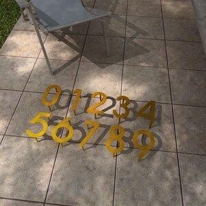 Image 5 - Iron art Modern Plaque Number House Hotel Door Address Digits Metal Plate Sign 0 9
