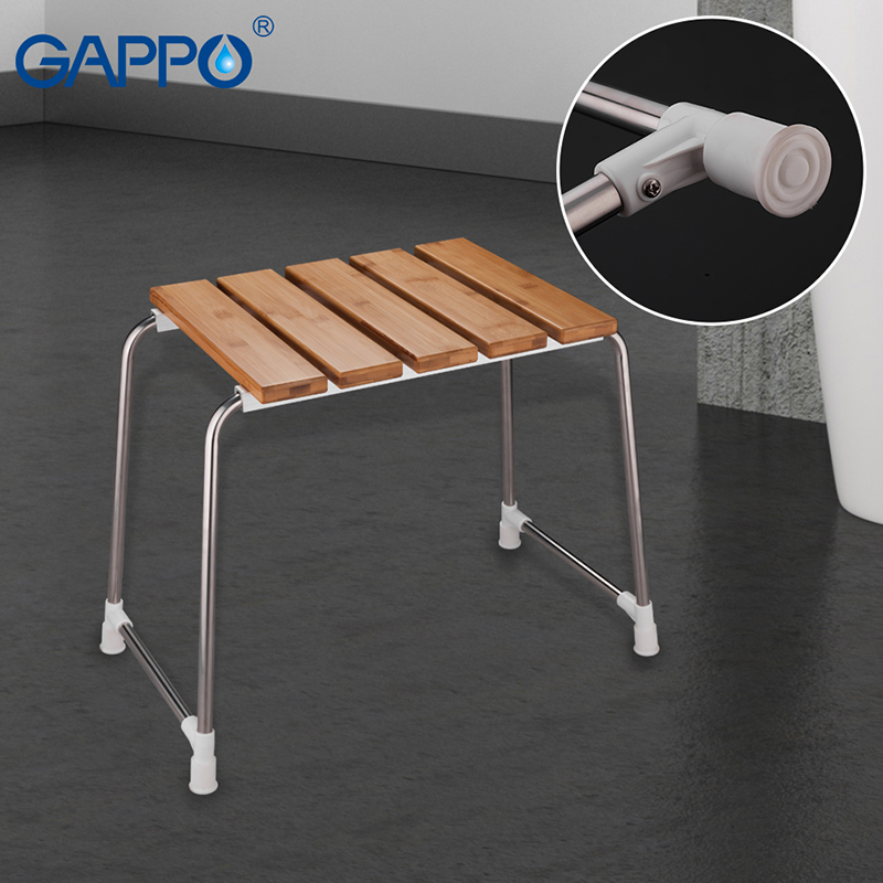 GAPPO Wall Mounted Shower Seats Solid wood folding chair bathroom relax chair shower Stool toilet Bath bench plywood