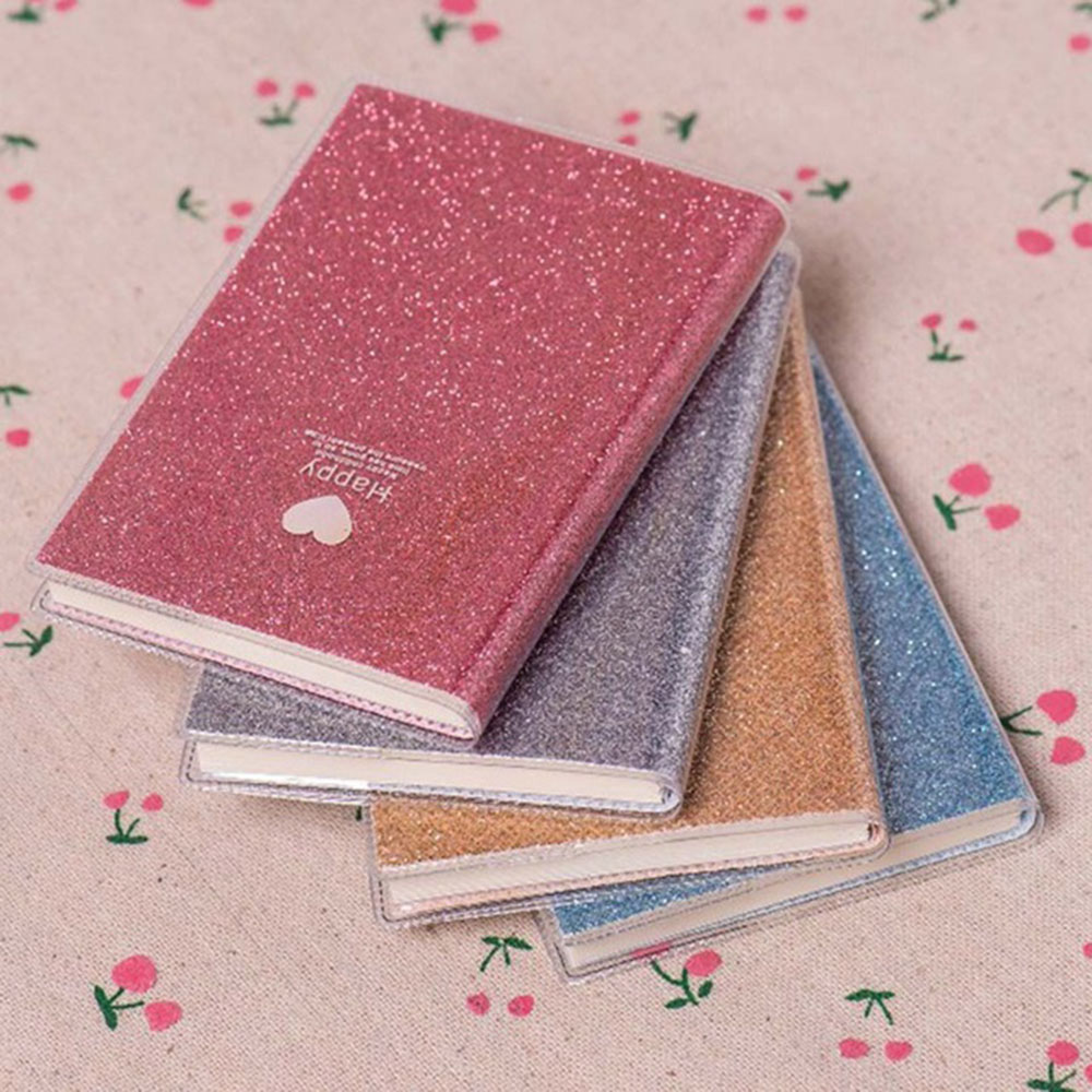 Creative PVC Notebook Paper Diary School Shiny Cool Kawaii Notebook Paper Agenda Schedule Planner Sketchbook Gift For Kids
