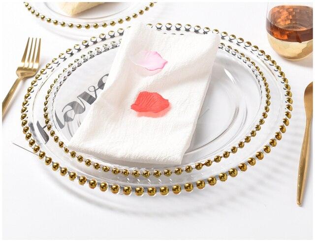 HTB1FarULXzqK1RjSZFCq6zbxVXaf.jpg 640x640 - dinnerware - Nordic Gold Bead Glass  Wedding Plates