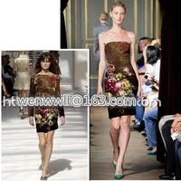 Designer 93 Silk 7 Spandex Stretch Satin Culottes Rose And Brown Apparel Fabric 1meter T251