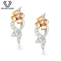 MZH Изысканные ювелирные изделия Bijouterie 18K позолоченные цветочные романтические серьги для Дамы Женщины Свадебные подарки любви CAE00555A