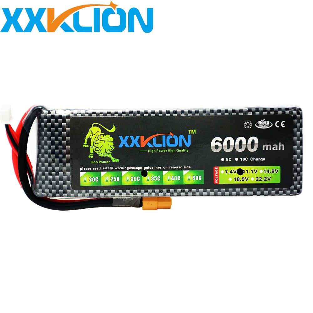 XXKLION 11.1 V 6000 mAh 35C 3 S RC LiPo batterie pour RC avion Quadrotor voiture bateau Drone RC bateau Li-ion batterie livraison gratuite