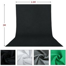 Hot Sale 1.6*3M/5 x 10FT Photography Studio Non-woven Backdrop Background Screen 3 Colors Black White Green(optional) yixiang high quality background 1 6 x 1m 3m 2m 4m 5m 6m diy photography studio 100% non woven backdrop background screen