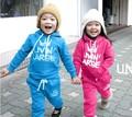 DTZ164 Free shipping new arrival children sport suit sweatshirt + pants 2 pcs kids clothes set fashio boy girls clothes retail