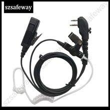 5 шт./лот двухсторонняя радиосвязь, наушники Walkie Taklie, гарнитура для Hytera PD505, задняя фотография
