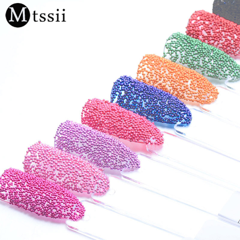 MTSSII 12 Colors Mini Bean Fashion Nail Art Micro Caviar Beads Pearl Decorations Tips 3D UV Gel Acrylic Nail Tools 10g box clear nail caviar micro beads 3d glitter mini beans tiny tips decorations diy nail art rhinestones manicure accessories