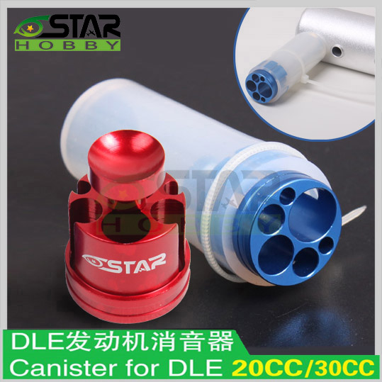 6STAR Engine Parts Muffler/ Canister For DLE20 20cc /DLE30 30cc Gasoline Engines6STAR Engine Parts Muffler/ Canister For DLE20 20cc /DLE30 30cc Gasoline Engines
