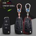 ЛУЧШИЕ Моды Автомобиля Смарт Shell Кожа Случае Ключ Обложки Брелок талии пряжка Для Audi A3 A6 B6 B7 B8 A8L Q5 Q7 Автомобиль аксессуары