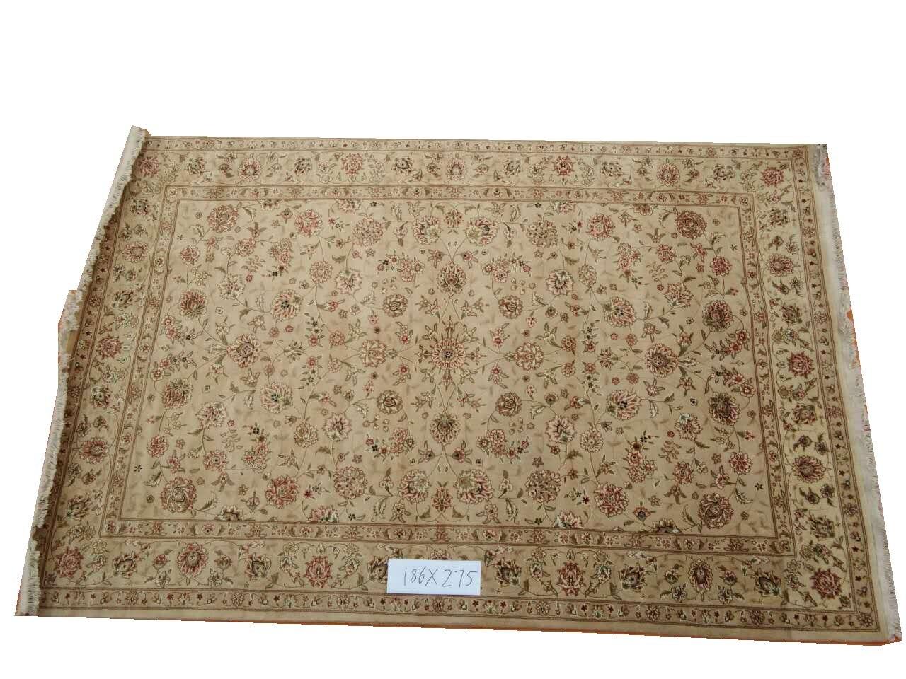 Tapis persan Oriental en laine et soie noué à la main tapis persan fait main 12 6x9gc157peryg9