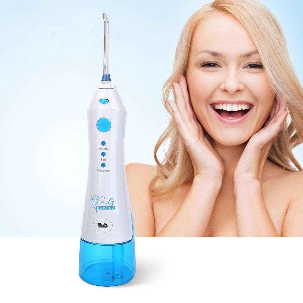 Gustala FC158 220 ml eléctrico portátil irrigador Oral hilo Dental inalámbrico de chorro de agua SPA La limpieza de los dientes cuidado Dental
