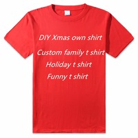 DIY T shirt Custom logo Top Tee Festive Gift shirts design your own tshirt family t shirt holiday couples shirts for him and her