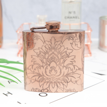 купить Mealivos Rose gold Flasks 6 oz Stainless Steel Hip Flask flowers Flask for Alcohol Bottle liquor Whiskey bottle bridesmaid gift дешево