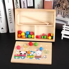 Деревянные игрушки для детей Монтессори развивающий мяч Пазлы для детей игра мелкая моторика подарки