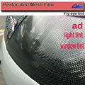 Top Quality Perforated Mesh Film Black Fly Eye Tint Tail Light Tint Car Window Tint size:1.07x50m FedEx Free shipping