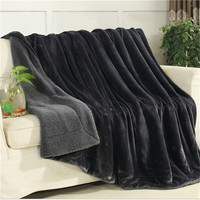 2017 Luxurious Large Warm Thick Sherpa Throw Blanket Coverlet Reversible Fuzzy Microfiber All Season Plaid For
