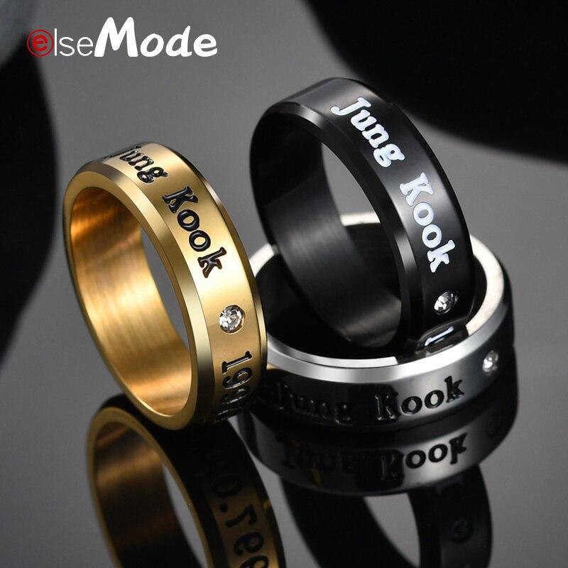Anillo aleación acero cristal BTS Bangtan Boys K-Pop ARMY Ring steel /& crystal