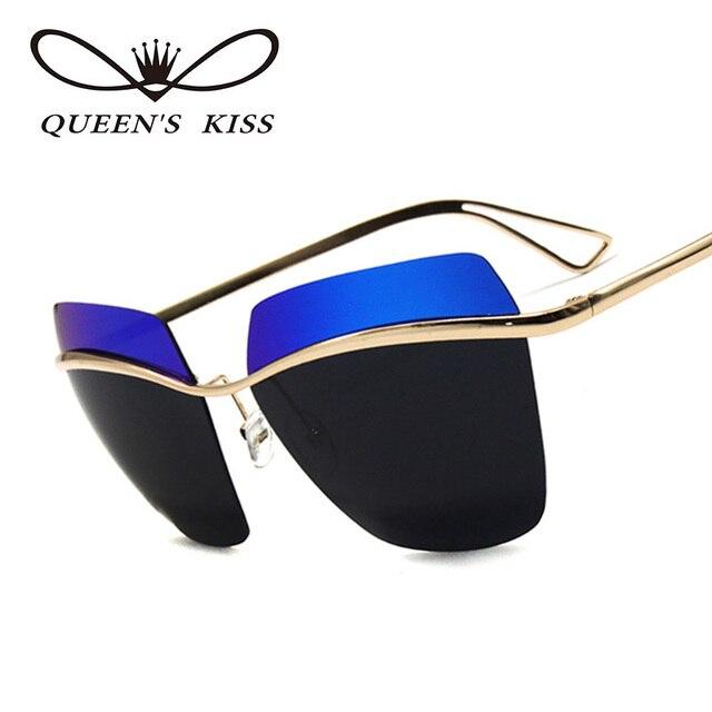 REINAS BESO Cat Eye Sunglasses Mujeres de Gran Tamaño de Dos colores ...