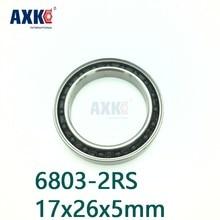 Axk Gratis Verzending 6803-2rs 6803 61803 2rs Si3n4 Hybrid Keramische Groefkogellager 17x26x5mm