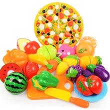 Baby Kitchen Cooking Set DIY Pretend Play Kids Kitchen Toys Plastic Food Set Cutting Fruit Children Kid Educational Toys