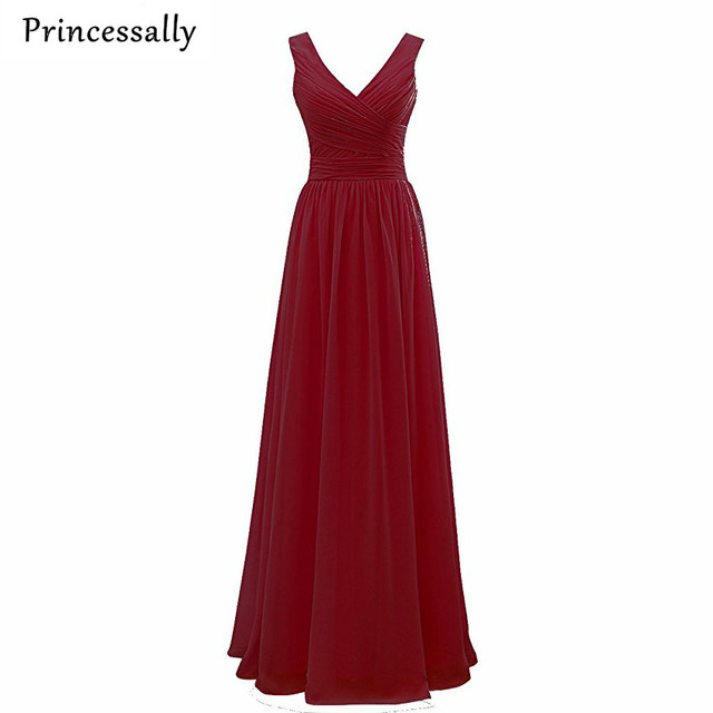 Burgundy Bridesmaid Dress Fuschia Vestido De Dama De Honra Wedding Party  Dress Vestidos Madrinha Cheap Prom Wedding Party Gown. 1 order f18797c8e5c1