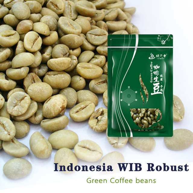 Unroasted Coffee Beans >> Free Shipping 500g Indonesia Robusta Wib 1 Green Coffee Beans Raw Unroasted Long Finish Mellow