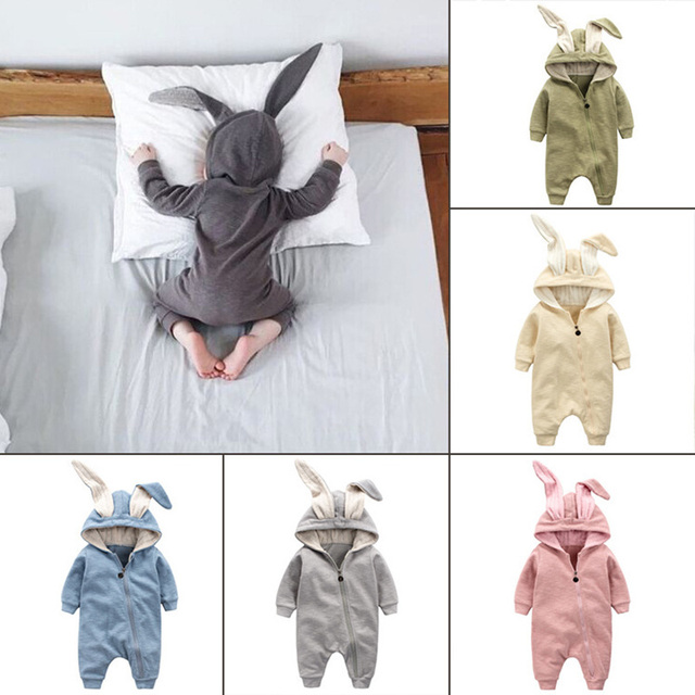 New Spring Autumn Baby Rompers Cute Cartoon Rabbit Infant Girl Boy Jumpsuit Kids Baby Outfits Clothes Baby Boys Girls Clothes