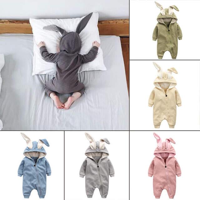e4d9878b9 Online Shop New Spring Autumn Baby Rompers Cute Cartoon Rabbit ...