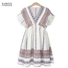 Missfebplum 4xl плюс Размеры хлопок белье Платья для женщин женская одежда взлетно-посадочной полосы платье Лето 2017 г. V Средства ухода за кожей Шеи Повседневное Белый пляж Vestidos Mujer