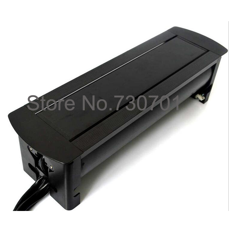 Office manual flipping rotation desktop table socket outlet with power  switch for furniture China