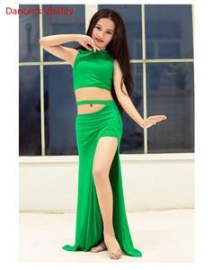 Image 2 - NEW Children Belly Dance Costumes Children Hot Sale Dance Show Clothing Summer Modal Split Skirt Set Free Delivery