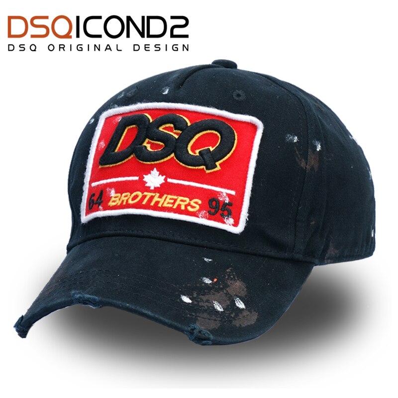 DSQICOND2 High Quality Brand Baseball Caps Trucker Cap Casquette Homme for Women Men gorras plan Caps Snapback Caps Trucker Hats
