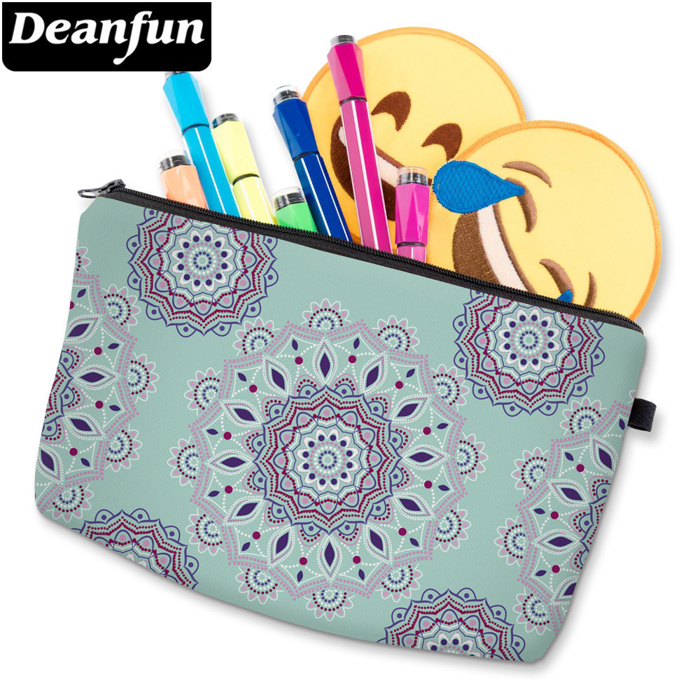 Deanfun 3D Printing Mandala Flower Small Cosmetic Bag Waterproof Cute Makeup Bag Toiletry Bag For Travel D51456