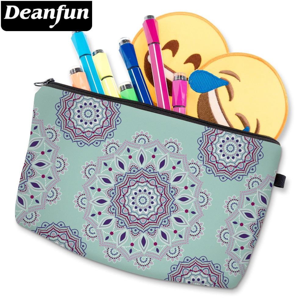 Deanfun 3D Printing Mandala Flower Small Cosmetic Bag Waterproof Cute Makeup Bag Toiletry Bag For Travel D51456