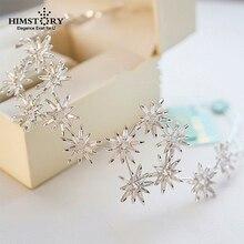 HIMSTORY  Luxury Princess Star CZ Hairband Tiaras Crown Bridal  Headband AAA Zircon Cubic  Wedding  Hair Accessories