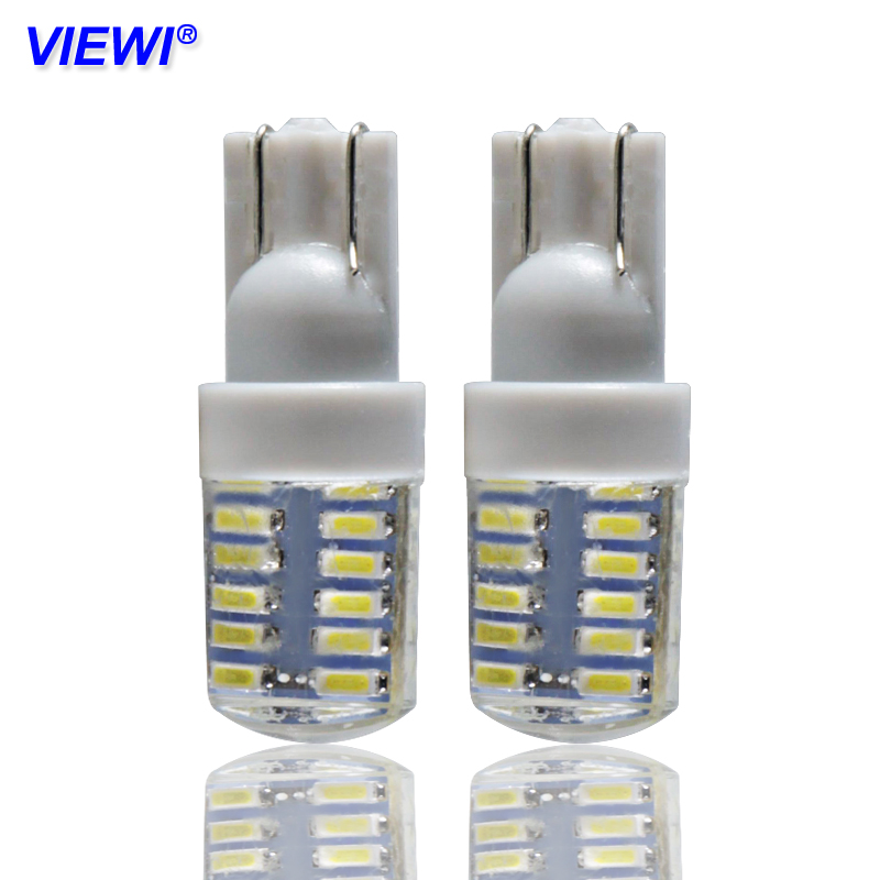 10x <font><b>t10</b></font> w5w 194 186 <font><b>led</b></font> interior lights 1W IP68 silicone Auto Signal lamp yellow white red blue turn Side License Plate bulbs image