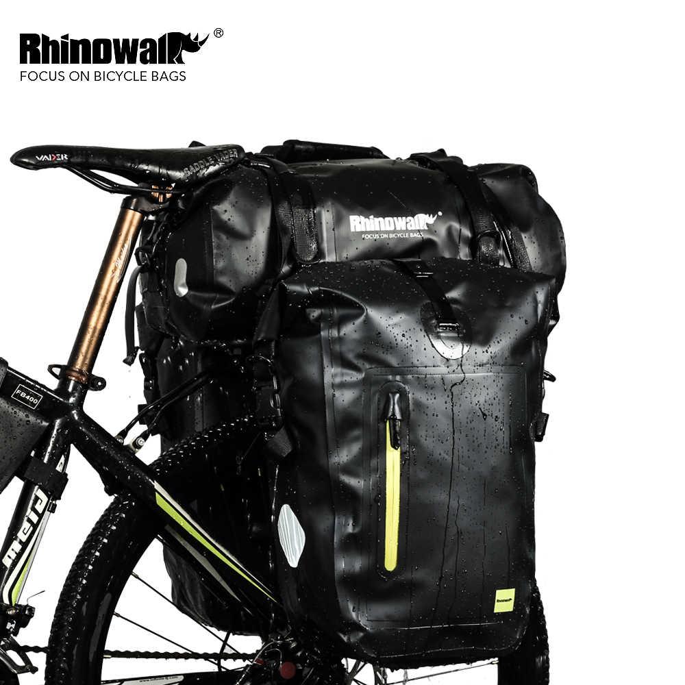 Rhinowal полностью водонепроницаемые велосипедные сумки для багажа, многофункциональная дорожная сумка для шоссейного велосипеда, задняя стойка для багажника, велосипедное седло, сумка для хранения, 20л 27Л